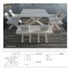 Stół ogrodowy + 2 ławki / design: Manufaktura69